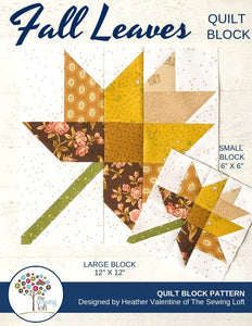 Fall Leaves Quilt Block Pattern