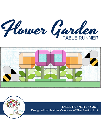 Flower Garden Table Runner Pattern Layout