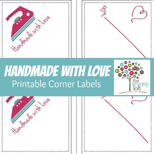 Handmade with Love Corner Labels