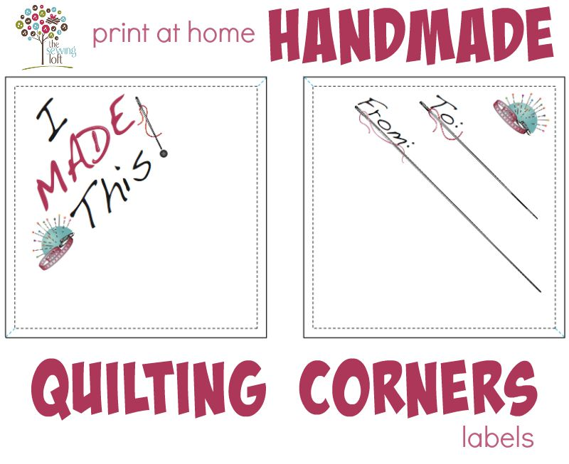 I Made This!  Corner Labels