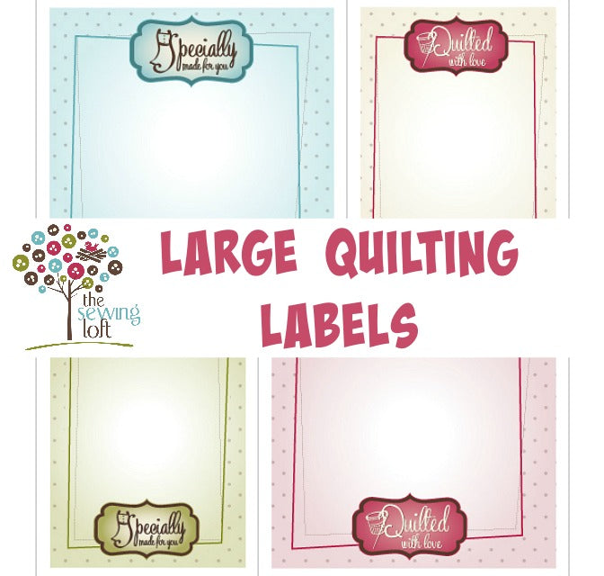 It's just a graphic of Enterprising Printable Quilt Labels