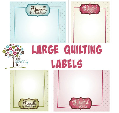 Large Printable Quilt and Sewing Labels