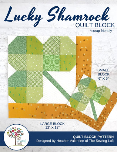Lucky Shamrock Quilt Block Pattern