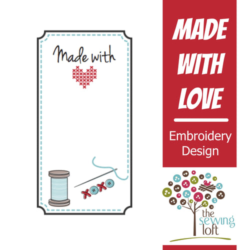 Handmade with Love Embroidery Labels