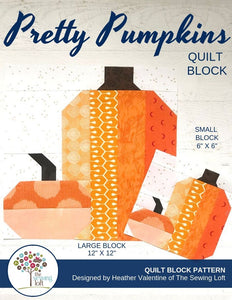 Pretty Pumpkins Quilt Block Pattern