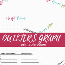 Quilter's Graph Paper Sample