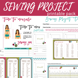 Sewing Project Printable Pack