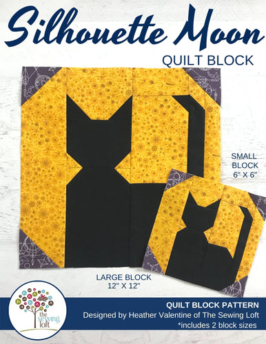 Silhouette Moon Quilt Block Pattern