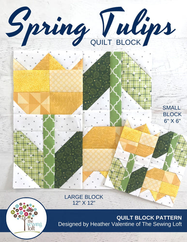 Spring Tulips Quilt Block Pattern