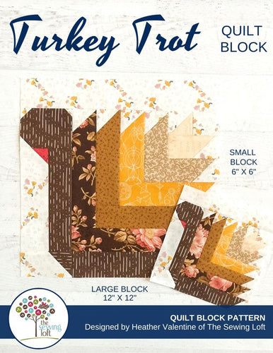 Turkey Trot Quilt Block Pattern
