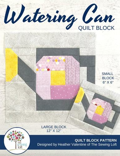 Watering Can Quilt Block Pattern