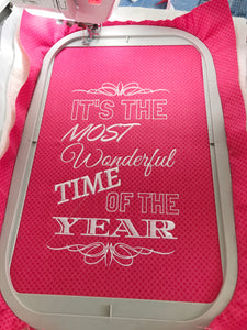 Most Wonderful Time Embroidery Design