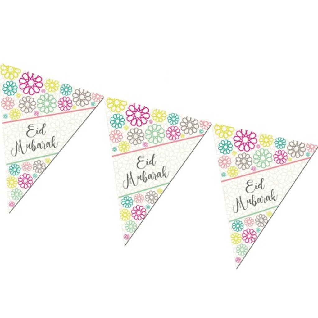 Eid Mubarak Bunting with a Geometric Pattern