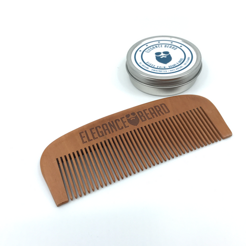 Handmade Pear Wood Beard Comb