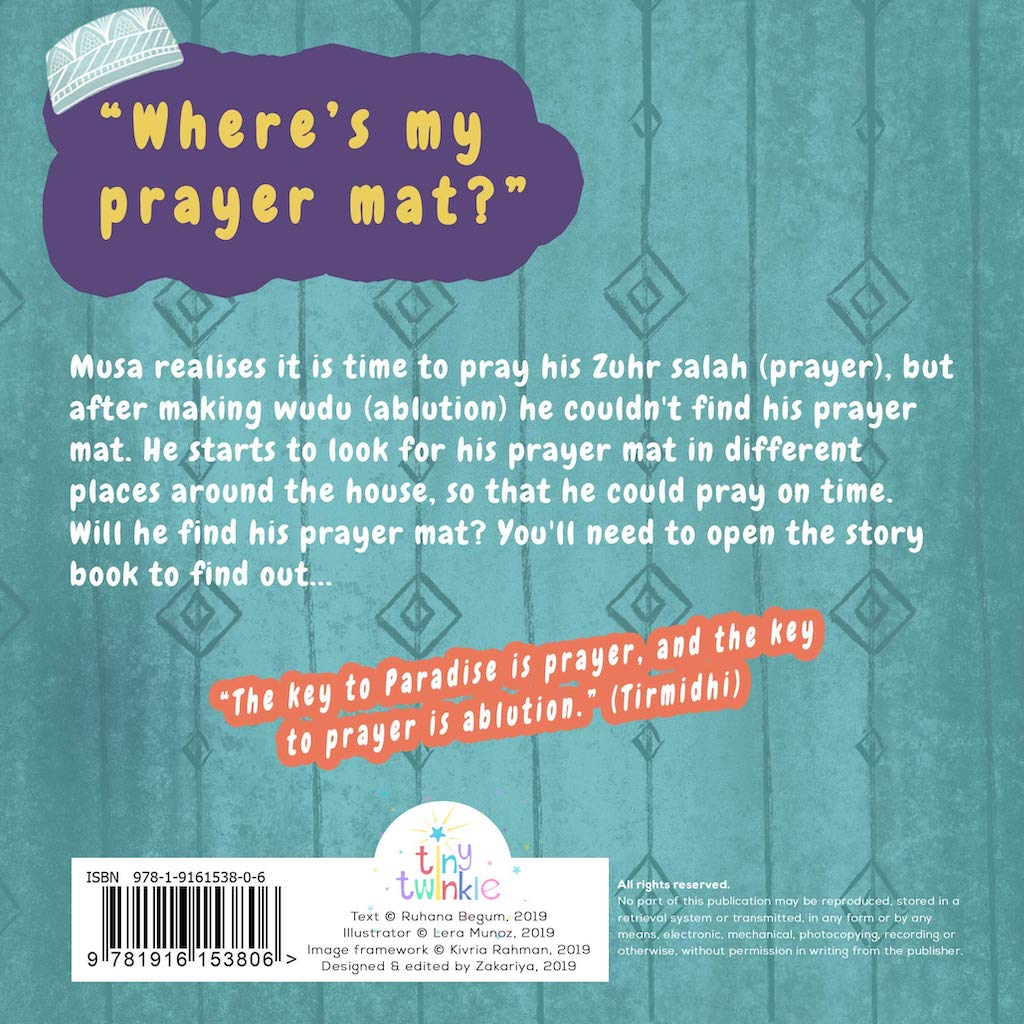 Where's My Prayer Mat? Back Cover