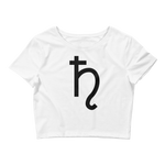 SATURN - Women's Crop Tee [WHITE]