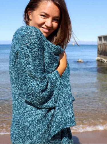 Eclipse Cosy Cardi in Bermuda Blue
