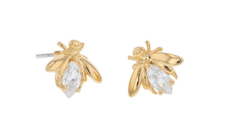 Jolie & Deen Crystal Bee Earrings