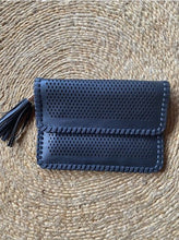 Vegan Diamond Cut Clutch Bag Black