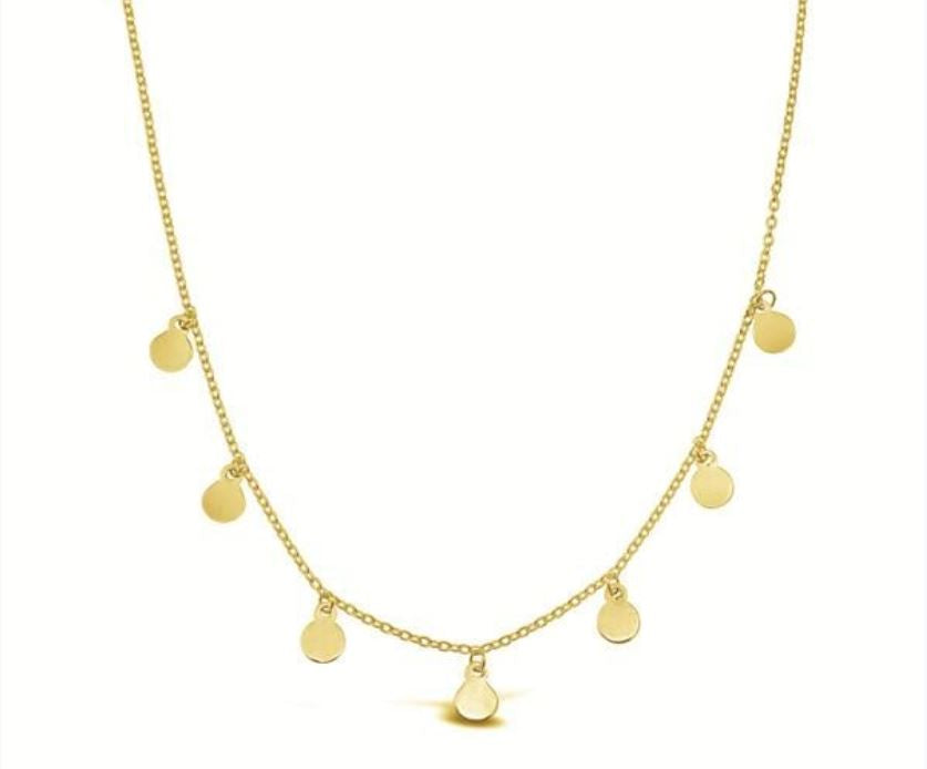 Golden Discs Necklace