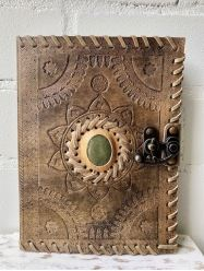 Lockup Leather Journal with Stone