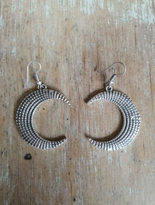 Ornate Moon Earring