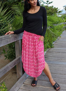 Samsara Skirt in Berry