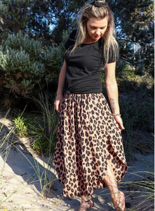 Samsara Skirt in Dark Leopard