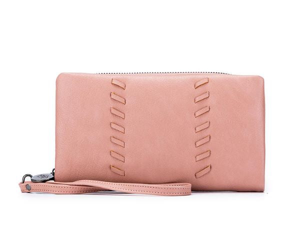Sky Vegan Leather Wallet in Misty Rose