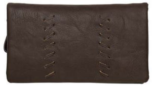 Sky Vegan Leather Wallet Chocolate