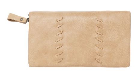 Sky Vegan Leather Wallet in Sand