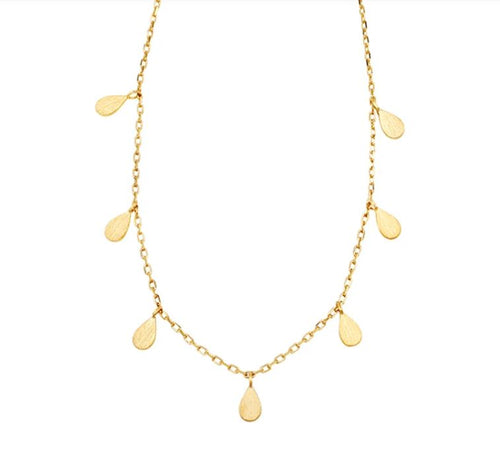Jolie & Deen Teardrop Necklace Gold