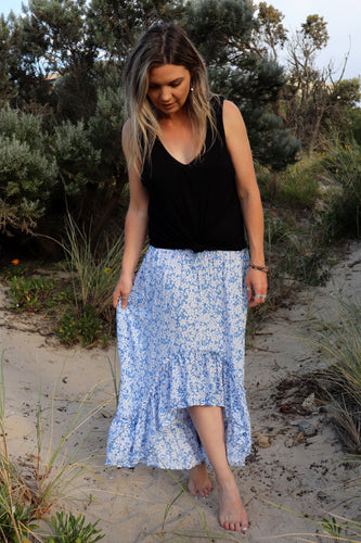Wild and Free Skirt in Blossom Blue