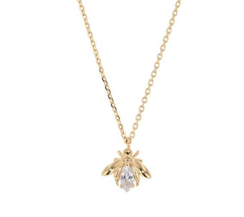 Jolie & Deen Crystal Bee Necklace