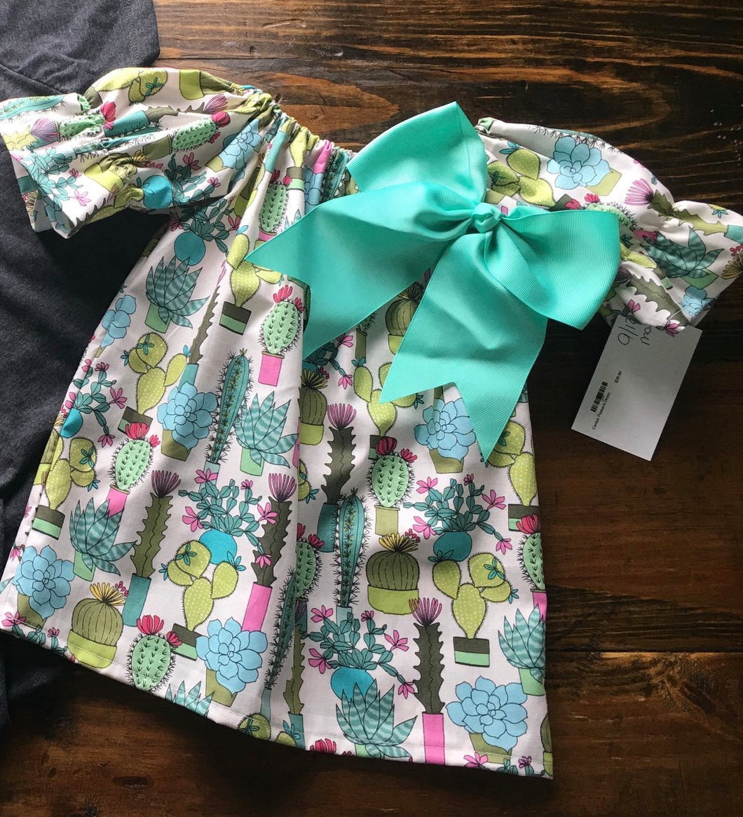 Copy of Cactus Peasant Dress