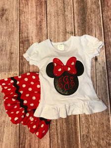 Minnie Applique Set