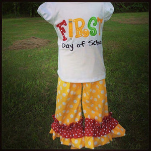 First Day of School Applique Set