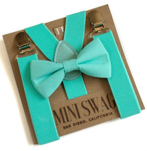 Mini Swag Textiles - Seafoam Bow Tie and Suspenders Set