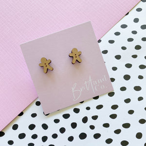 Wooden Gingerbread Studs