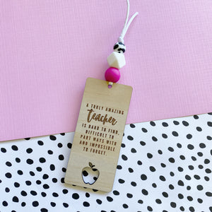 Hot Pink Cowhide Bookmark (Pre-Order- Approx dispatch 26.10.2020)