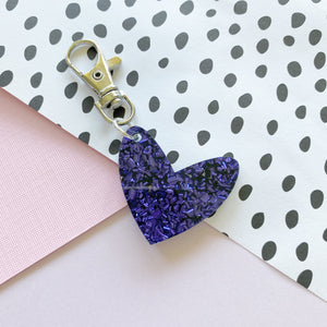 Mini Royal Blue Sparkle 'Spread The Love' Keyring