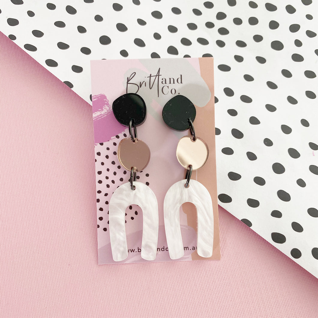 Pearl Arch Statement Earrings