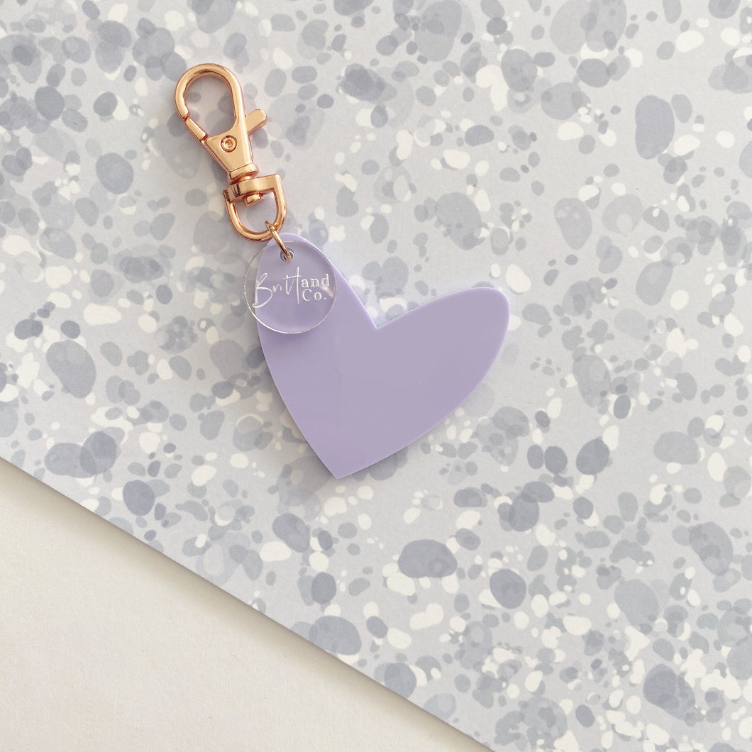 Pastel Purple 'Spread The Love' Keyring Ring