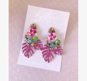 Flamingo Fling Statement Earringd