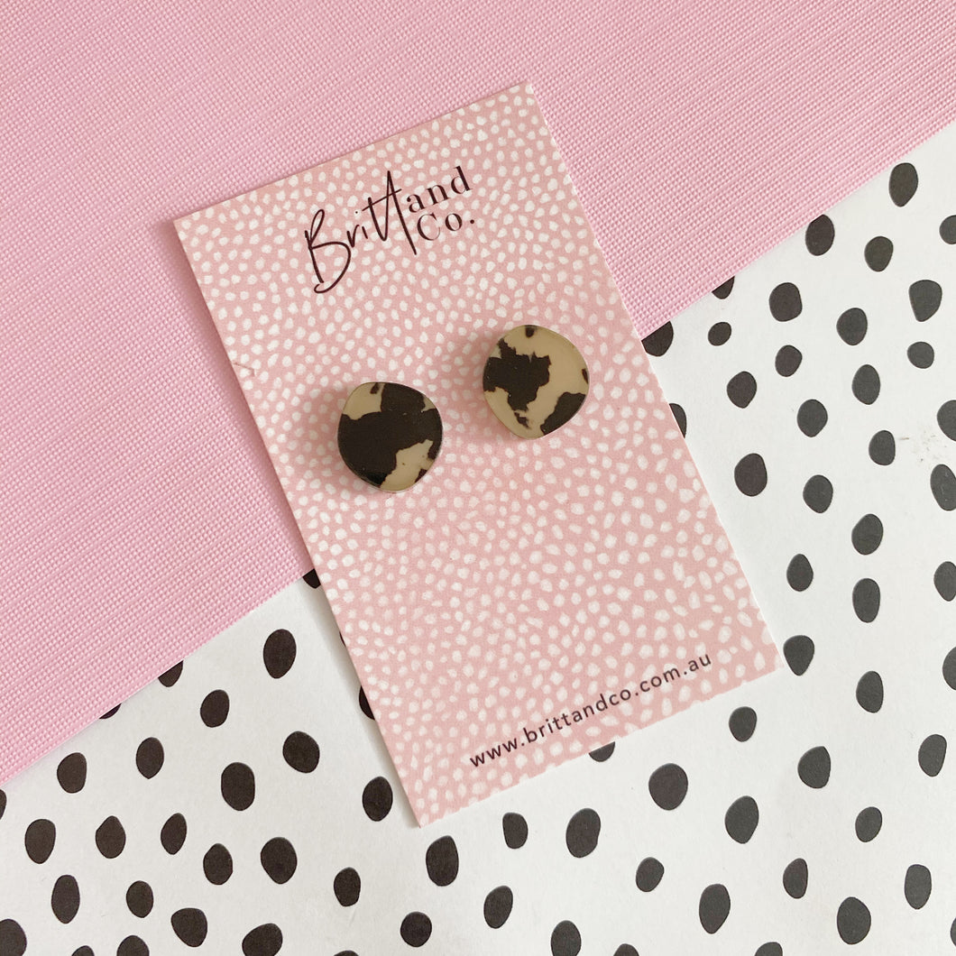 Mini Light Leopard Studs