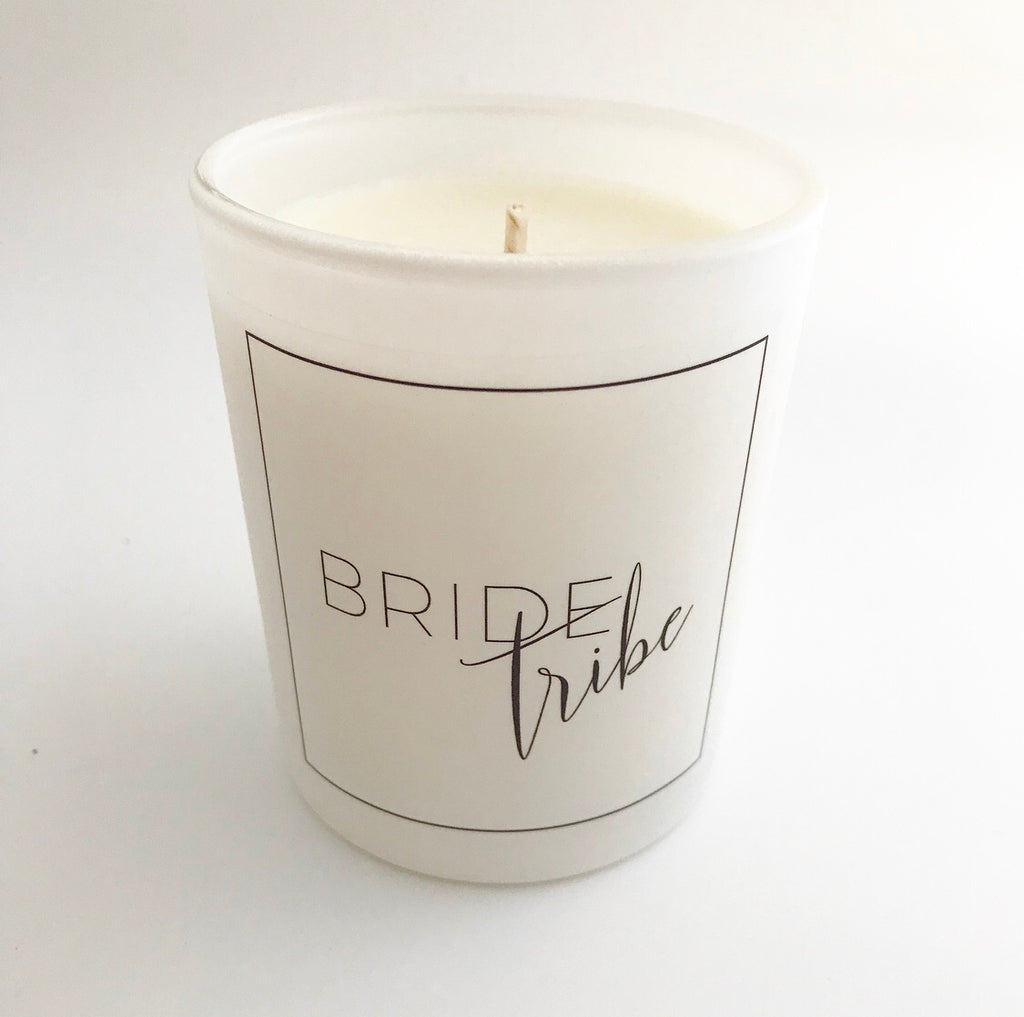 'Bride Tribe' Glass Candle