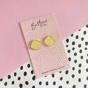 Mini Gold Leopard Mirror Studs