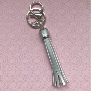 Silver Leather Key Ring