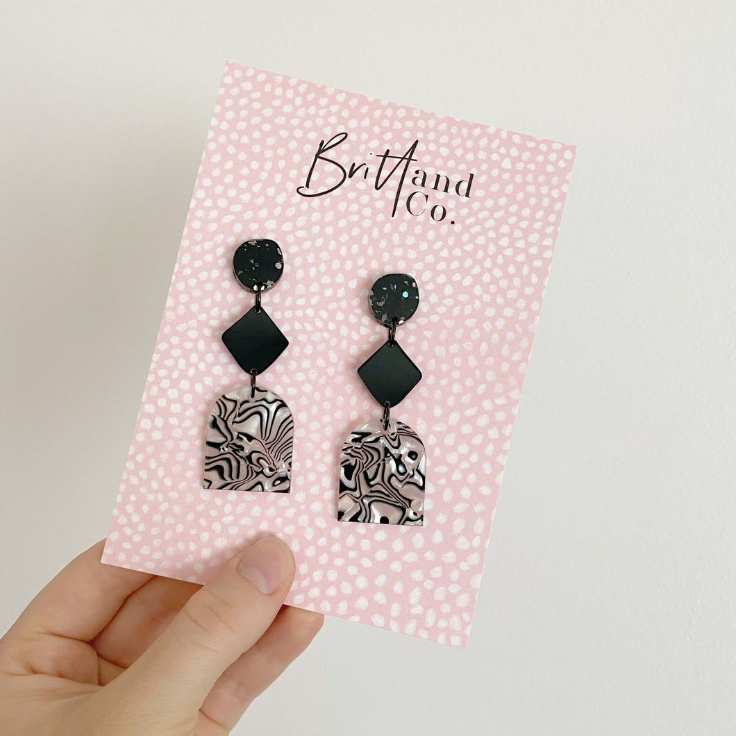 Luxe Zebra Statement Earrings