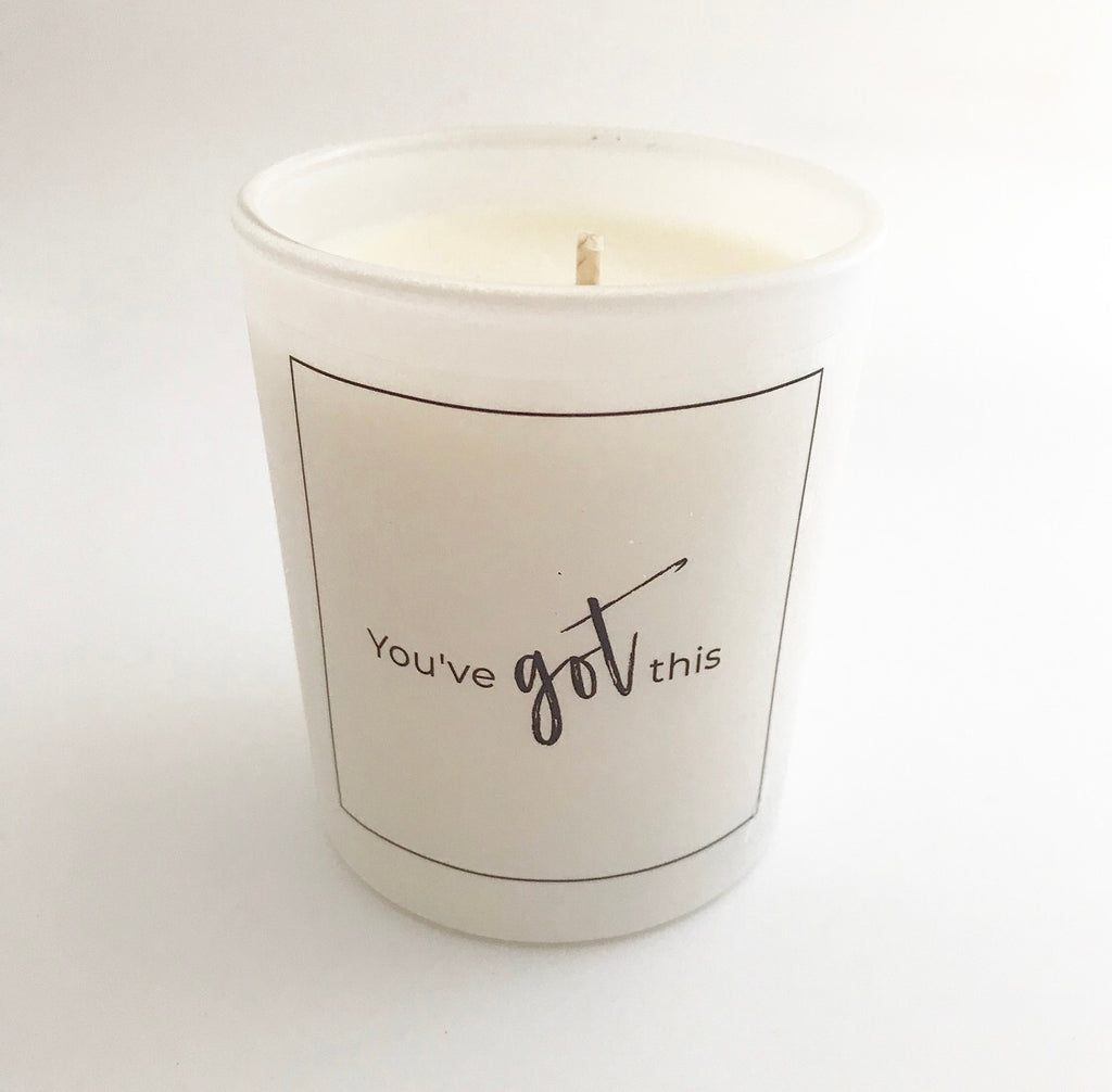 'You've Got This' Glass Candle
